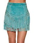 Fringe Studded Mini Skirt Photo