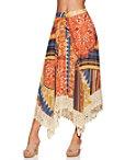 Print Boho Lace Midi Skirt Photo