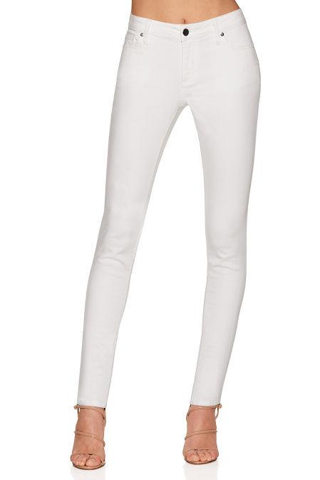 Five pocket high rise skinny jean image