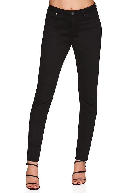 Five pocket high rise skinny jean image