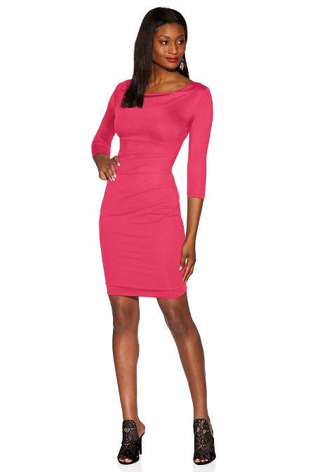 Beyond Slim and Shape cowl dress image
