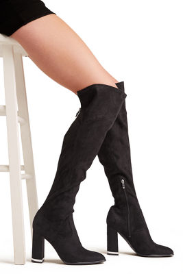 Display product reviews for Suede over the knee classic boot