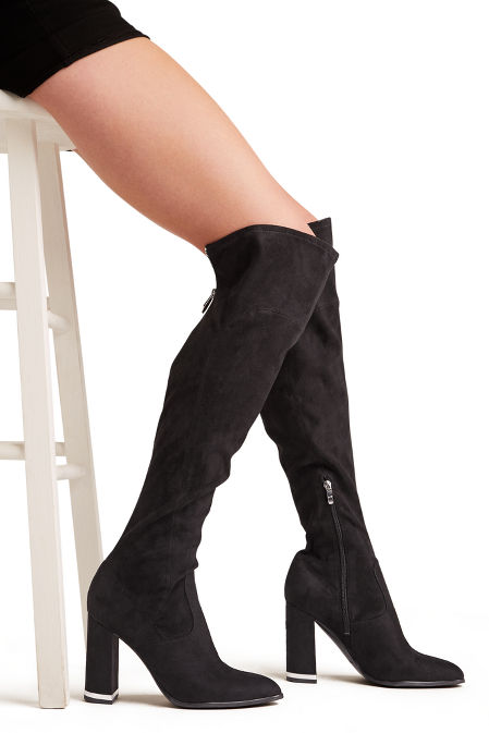 Suede over the knee classic boot image