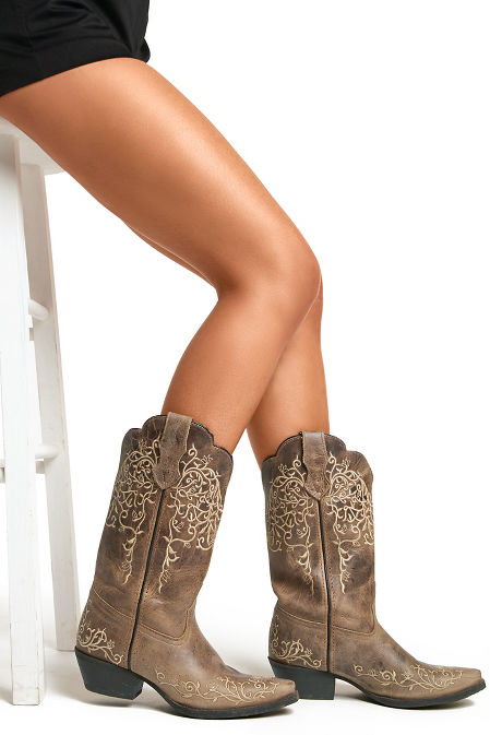Traditional cowboy boot image