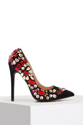 embellished jewel pump