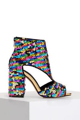 sequin party heel