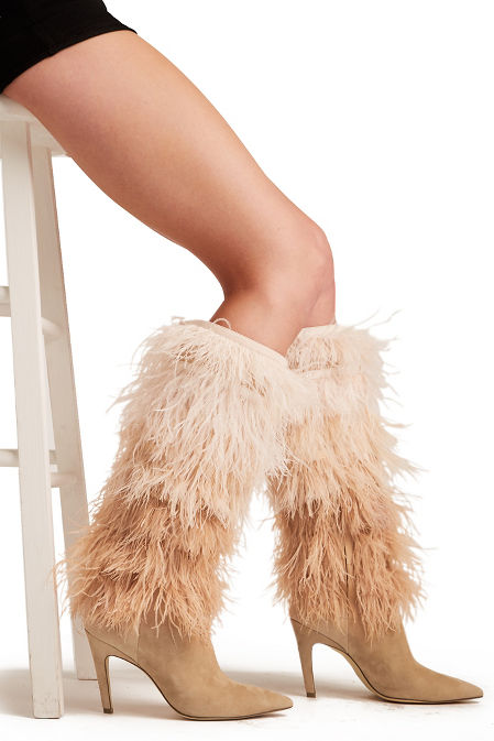 Ombre feather boot image