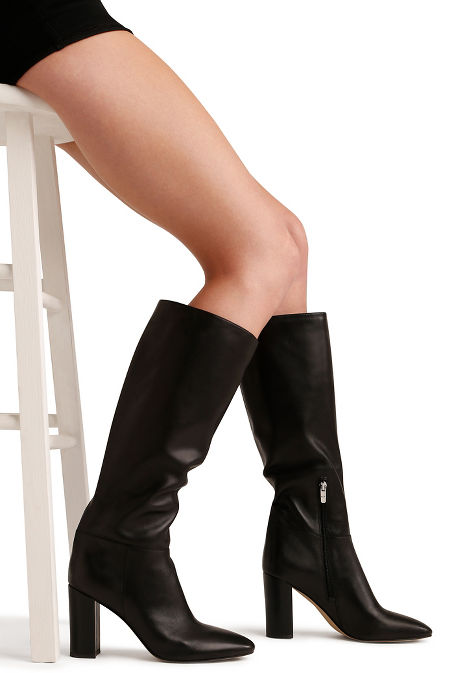 Tall classic leather boot image