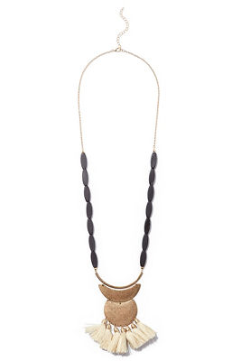 Structure tassel necklace
