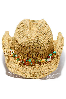 Beaded cowboy hat