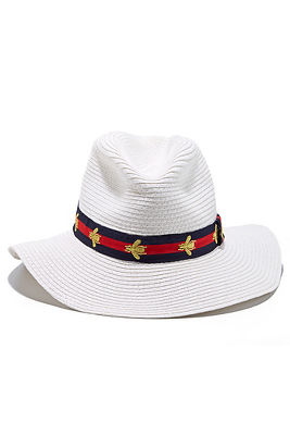 bee preppy panama hat
