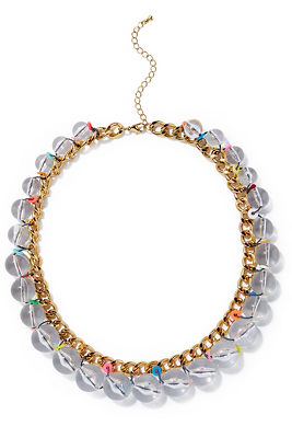 multicolor bauble necklace