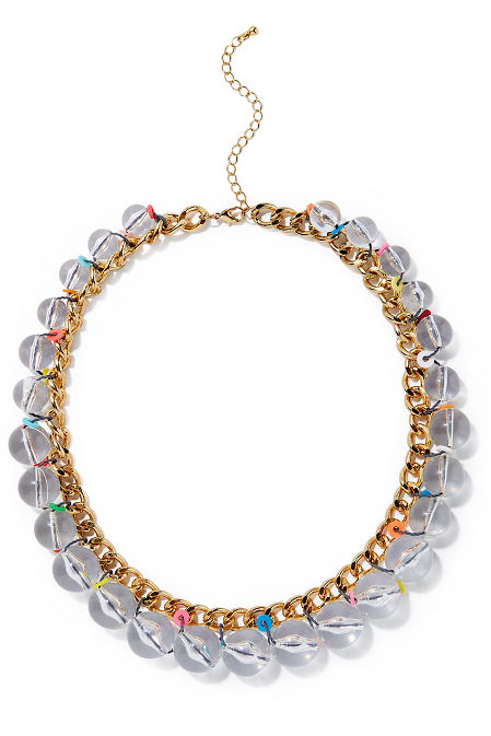 Multicolor bauble necklace image