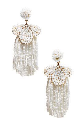 Seed bead fringe earrings