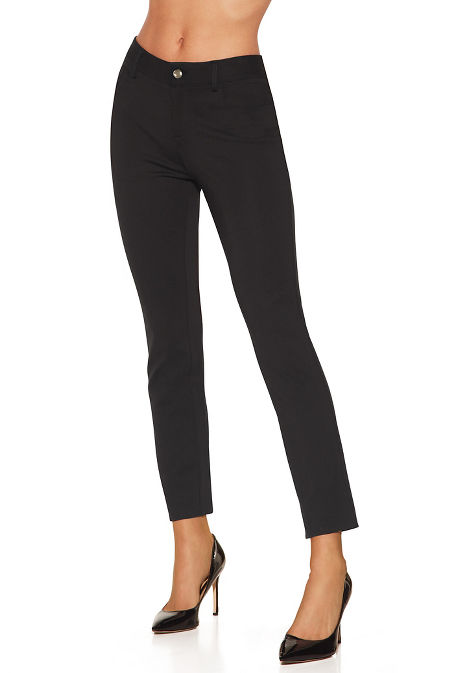 Five pocket slim ponte pant image