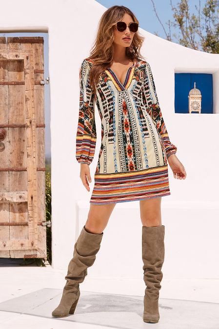Aztec print dress image