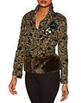 Camo Embellished Faux-fur Jacket Photo