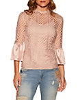 Charm Flare Sleeve Lace Top Photo