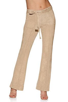 faux suede trouser