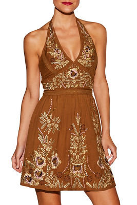 Halter embellished dress