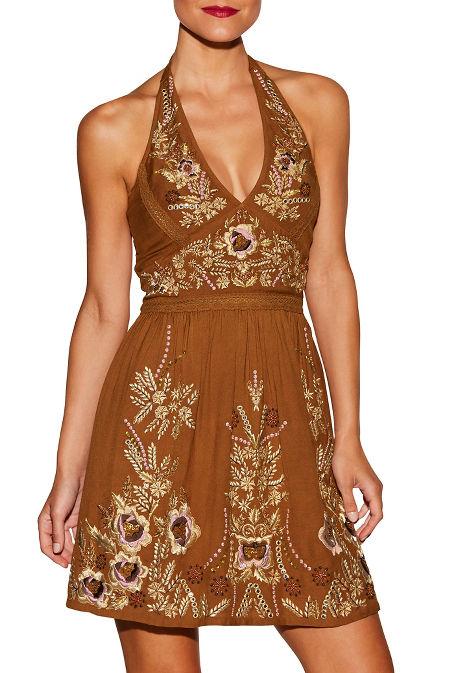 Halter embellished dress image