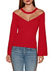 Illusion V-neck Sweater Photo