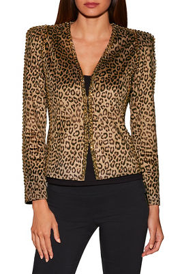 leopard chain jacket
