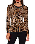 Leopard Print Jeweled Sweater Photo