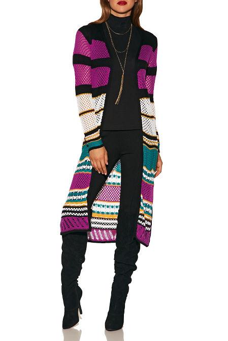 Multicolor crochet duster image