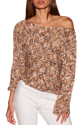 Multicolor marled slouchy sweater