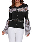 Pearl And Lace Embellished Cardigan Photo