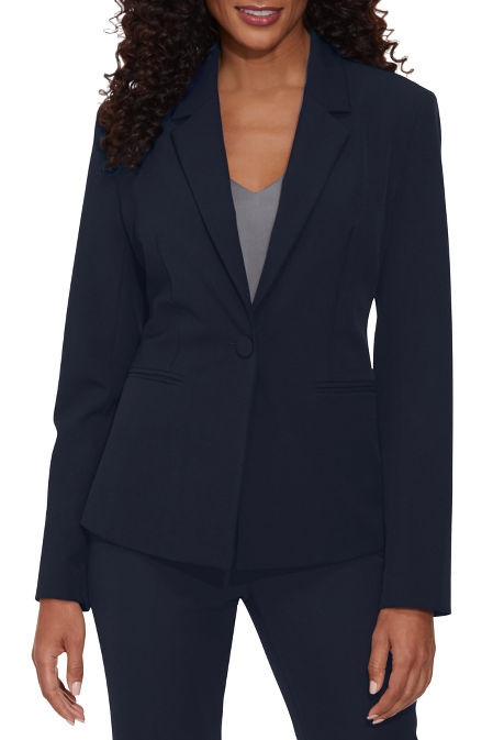 Single button crepe blazer image