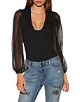 So Sexy™ Chiffon Sleeve Bodysuit Photo