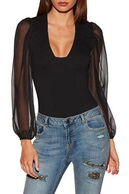 So Sexy™ chiffon sleeve bodysuit