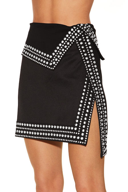 Studded mini skirt image