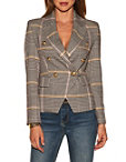 Plaid Double-breasted Blazer Photo