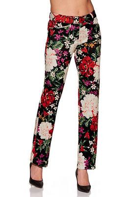 floral scuba trouser