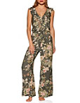 Floral Ruffle Lounge Jumpsuit Photo