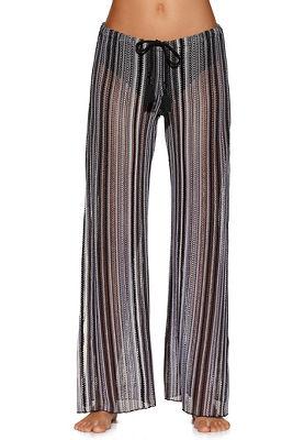 crochet stripe beach pant
