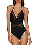 Glam Mesh One-piece Swimsuit Photo