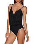Surplice Top One-piece Swimsuit Photo