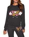 Butterfly Graphic Sweatshirt Photo
