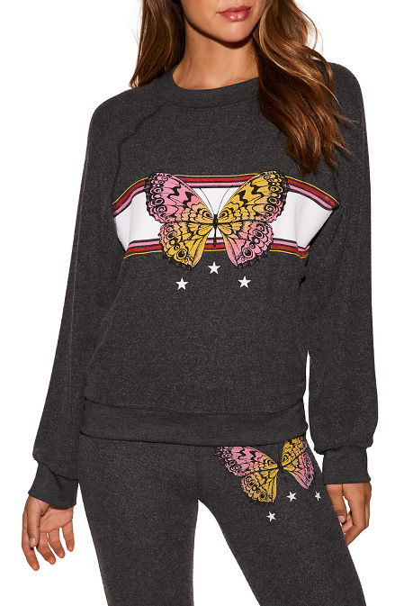 Butterfly graphic sweatshirt image