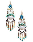 Blue Multi Dangle Earrings Photo