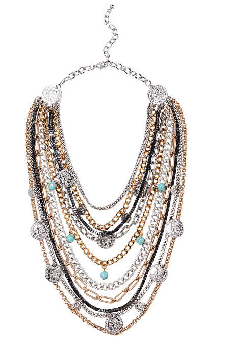 Coin statement necklace image