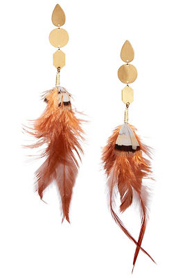Dangle feather earrings