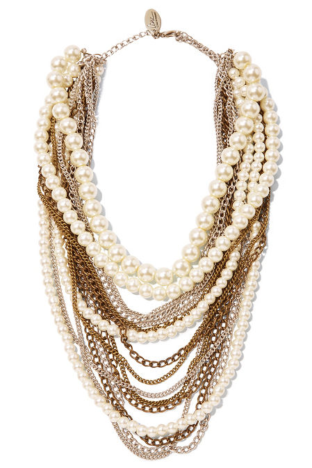 Multilayer pearl necklace image
