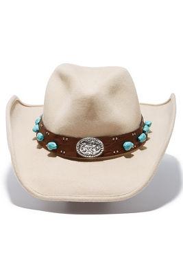 stone embellished cowboy hat