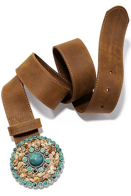 Turquoise buckle belt