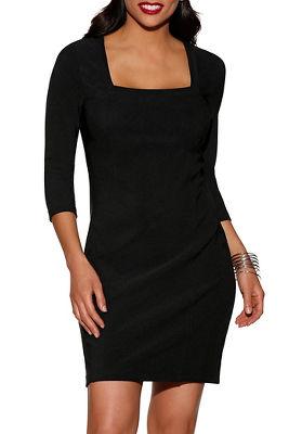 Beyond travel&#8482 square neck dress